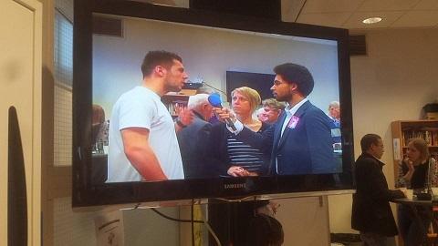 Damien op tv
